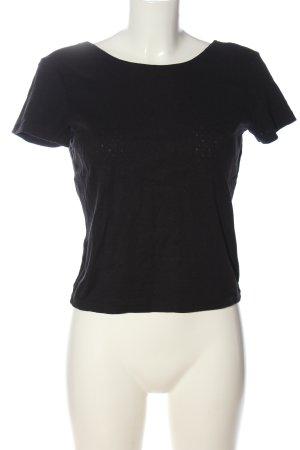 Monki Cropped Shirt schwarz Casual-Look
