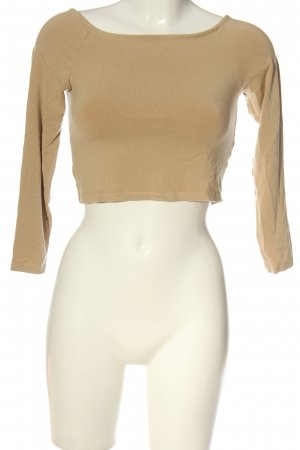 Monki Cropped Shirt nude Casual-Look