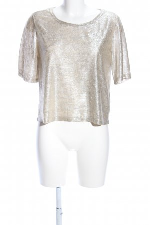 Monki Cropped Shirt goldfarben Casual-Look