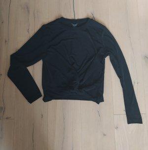 Monki Cropped Shirt Crop Cropshirt Knot Knoten