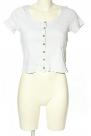 Monki Cropped Shirt white casual look