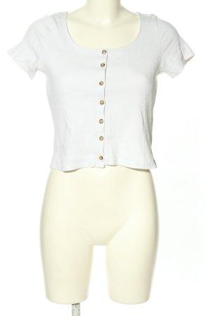 Monki Cropped shirt wit casual uitstraling