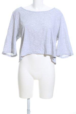 Monki Camicia cropped grigio chiaro puntinato stile casual