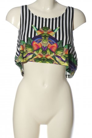 Monki Cropped Top grafisches Muster Casual-Look