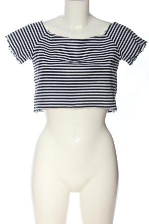 Monki Crop-top noir-blanc style décontracté