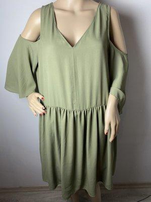 Monki Robe Babydoll gris vert tissu mixte