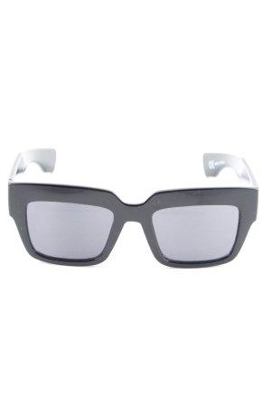 Monki eckige Sonnenbrille schwarz Casual-Look