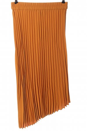 Monki Gonna a pieghe arancione chiaro stile casual