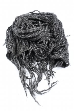 Monki Fringed Scarf light grey casual look