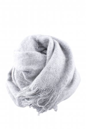 Monki Fringed Scarf light grey flecked casual look