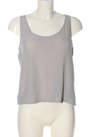 Monki Haut tricotés gris clair style décontracté
