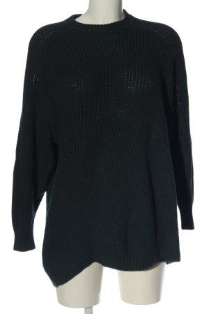 Monki Jersey de punto grueso negro punto trenzado elegante