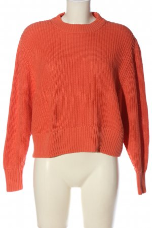 Monki Crochet Sweater light orange casual look