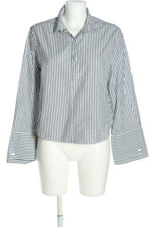 Monki Hemd-Bluse weiß-schwarz Streifenmuster Casual-Look