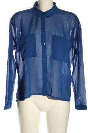 Monki Hemd-Bluse blau Casual-Look