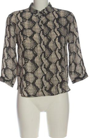 Monki Camicia blusa grigio chiaro stampa integrale stile professionale
