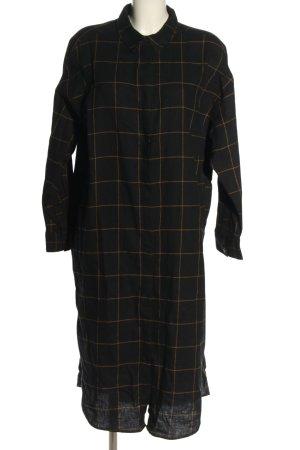 Monki Hemdblusenkleid schwarz-grün Karomuster Casual-Look