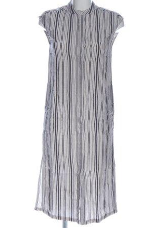 Monki Hemdblusenkleid weiß-schwarz Streifenmuster Casual-Look