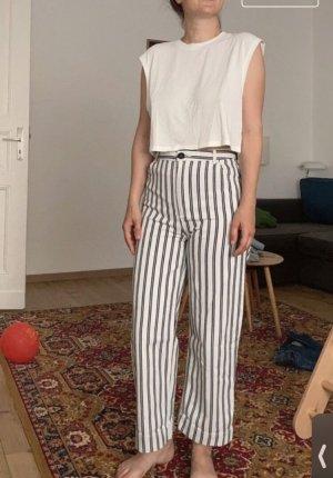 Monki 7/8 Length Trousers black-white