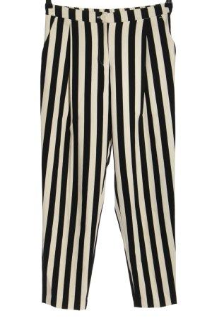 Monki High-Waist Hose schwarz-wollweiß Streifenmuster Casual-Look