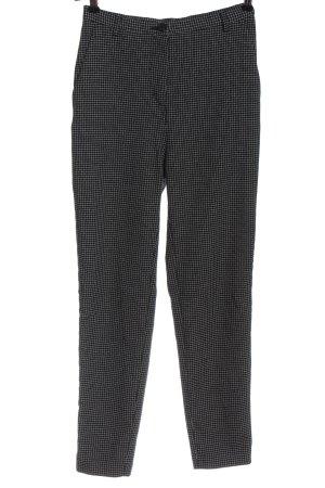 Monki Pantalone a vita alta nero-bianco motivo a quadri stile casual