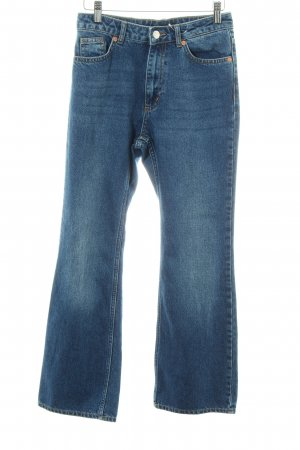 Monki Hoge taille jeans blauw casual uitstraling
