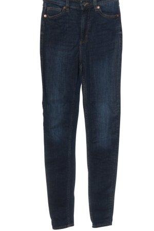 Monki Jeans taille haute bleu style décontracté