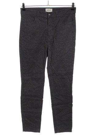 Monki High Waist Jeans blau-schwarz abstraktes Muster Casual-Look
