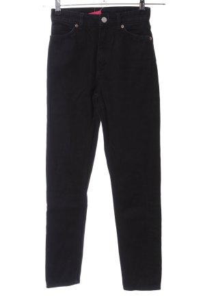 Monki High Waist Jeans schwarz Casual-Look