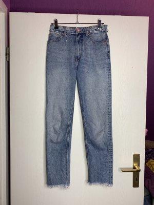 Monki Hoge taille jeans azuur Katoen