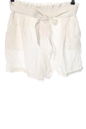 Monki Pantalón corto de talle alto blanco look casual