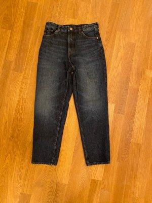 Monki Jeans carotte bleu foncé