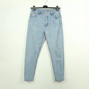Monki Jeans a carota azzurro Cotone