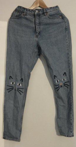 Monki High Waist Jeans multicolored