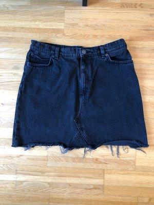 Monki Jeans Rock Gr. 40 in Schwarz
