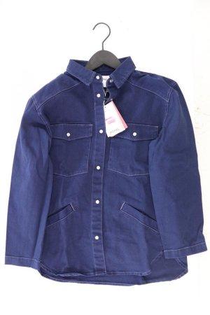 Monki Jeansbluse Größe XS neu mit Etikett Langarm blau aus Baumwolle