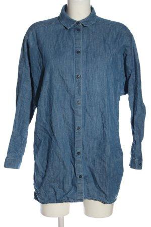 Monki Jeanshemd blau Casual-Look