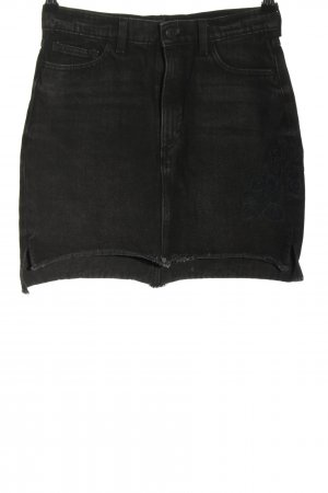 Monki Jeansrock schwarz Casual-Look