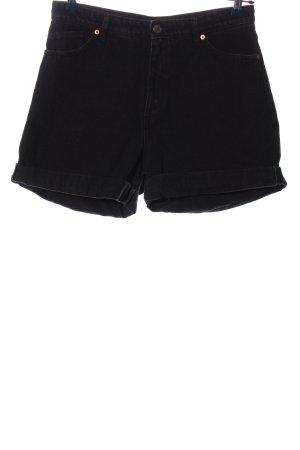 Monki Pantaloncino di jeans nero stile casual