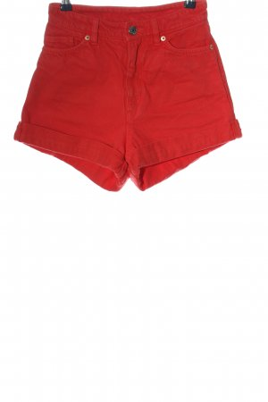 Monki Jeansshorts rot Casual-Look