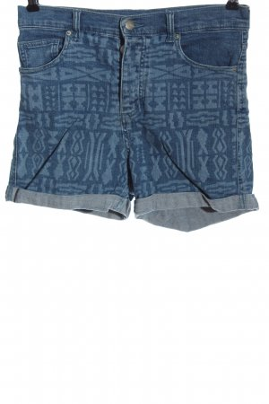 Monki Jeansshorts blau grafisches Muster Casual-Look