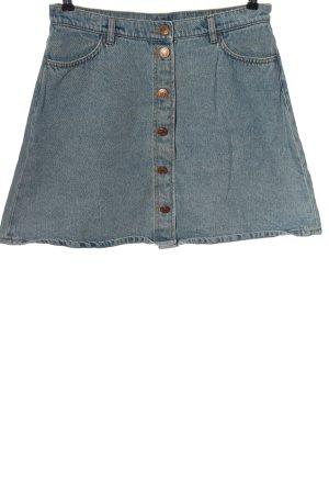 Monki Short en jean bleu motif rayé style décontracté