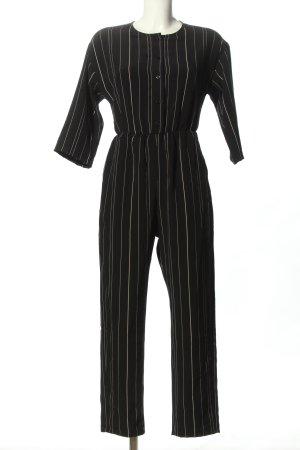 Monki Jumpsuit schwarz-weiß Streifenmuster Casual-Look