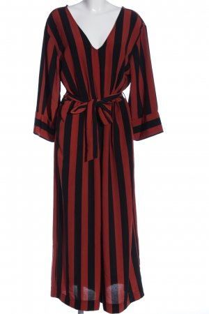Monki Jumpsuit rot-schwarz Streifenmuster Casual-Look