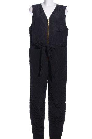 Monki Jumpsuit schwarz Steppmuster Casual-Look