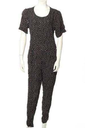 Monki Jumpsuit schwarz-weiß Allover-Druck Casual-Look