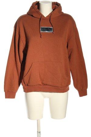 Monki Kapuzensweatshirt hellorange Casual-Look
