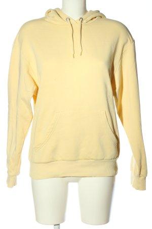 Monki Felpa con cappuccio giallo pallido stile casual