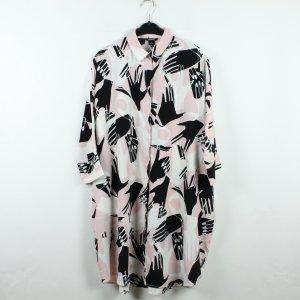 MONKI Kleid Gr. S rosa schwarz gemustert  (20/01/029)