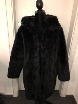 Monki Manteau en fausse fourrure noir